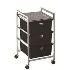 Pibbs D23 Metal Pedicure Cart Including 3 Deep Drawers