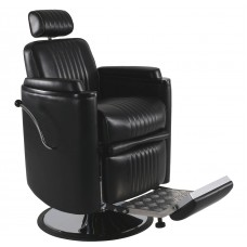 In Stock 8552 Barrel Barber Chair With Oversized 26 Inch Base