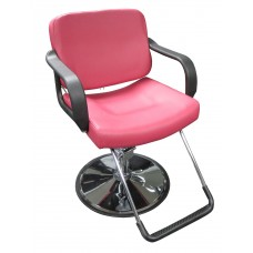 Italica 270 Salmon Pink Hair Styling Chair With U Footrest
