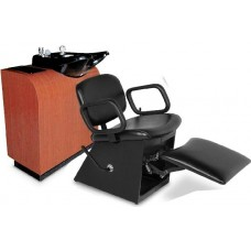 Collins 1850L Quick Ship Shampoo Chair With Locking Lever Leg Rest & Choice of 4 Vinyl Colors