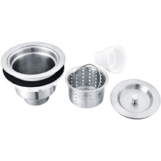 SSD Stainless Steel Strainer Basket Set Drain & Stainless Hair Cup With Tight Cap