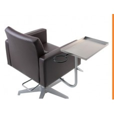 Assist A Tray Styling Chair Arm With Stainless Steel Tray Takara Belmont Model SR-AS21LD