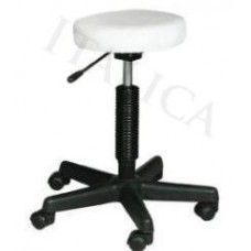 7080 Round Seat Hair Cutting Stool White or Black From Italica