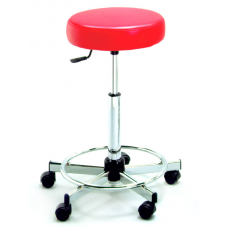 726 Round Seat Hair Cutting Stool With Backrest 23 to 33 Inch Lift By Pibbs