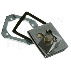 5000715 Belvedere Receiver Plate With Vacuum Breaker Holes For Shampoo Sinks USA Made In Stock