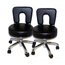2 PACK 3107A ANA Italica Black Pedicure Stool