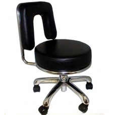 Italica 3104A Black Large Seat Pedicure Stool Elsa Free Shipping