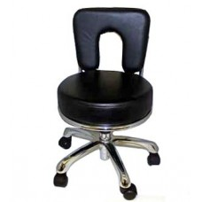 Italica 3107A Black Large Seat Pedicure Stool Ana Free Shipping