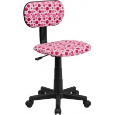 Pink Free Shipping Spotted Vinyl Task Chair With Arms or Not From Italica
