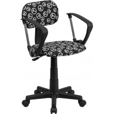 Free Ship Peace Sign Padded Vinyl Task Chair With Arms or Not From Italica