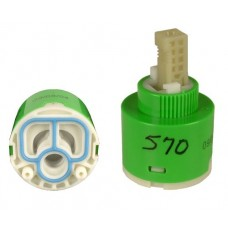 Jeffco 570C Cartridge For Jeffco Faucet Model 570 Inner Hot & Cold Control Piece Green In Stock