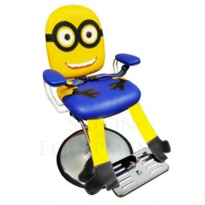 FREE SHIPPING-Companion Blue and Yellow Hair Styling Chair With Seat Belt