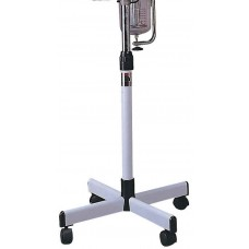 Facial Steamer Stand Metal 4 Spoke Stand With Adjustable Pole and Caster
