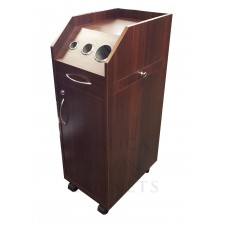 Italica TR010 Dark Walnut Portable Hair Styling Cabinet Locking Doors Tool Panel Fast Shipping In Stock