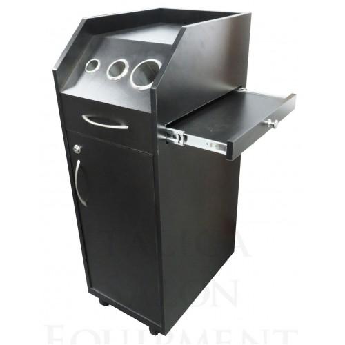 Italica TR010B Black Portable Hair Styling Cabinet Locking Doors Tool Panel