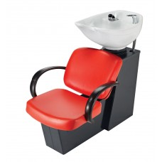 5236W Messina Shampoo Side or Backwash Black Base Sliding Chair Tilting Shampoo Bowl From Pibbs