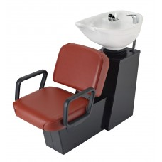 5243 Lambada Shampoo Side or Backwash From Pibbs With Sliding Chair  and Tilting Shampoo Bowl