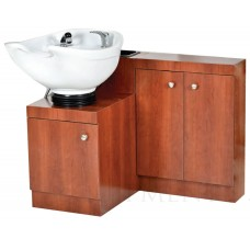 Pibbs 5260 Tilt Bowl Wall Mount Shampoo Unit With Cabinet