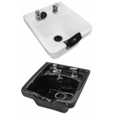Jeffco 8000 Porcelain White or Black Wall Hung Shampoo Bowl Includes vacuum Breaker