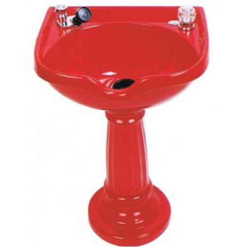 300 Pedestal Wall Hung Cultured Marble Shampoo Bowl With Faucet Set Made by Marble Products