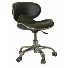 Italica PL206 Free Ship Ergonomic Black Pedicure Stool In Stock