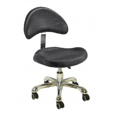 Italica Large Seat Pedicurist Stool 3323P With Wide Backrest And Free Shipping