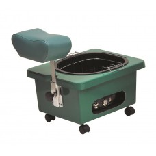Pibbs DG105E Emerald Green Mobile Fiberglass Pedi Cart Portable Footsie Bath Pedicure Unit