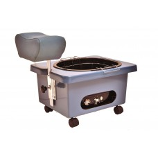Pibbs DG105S Star Blue Mobile Fiberglass Pedi Cart Portable Footsie Bath Pedicure Unit