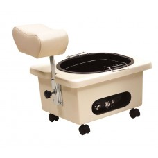 Pibbs DG105 Ivory Mobile Fiberglass Pedi Cart Portable Footsie Bath Pedicure Unit