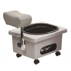 Pibbs DG105G Grey Mobile Pedicure Cart With Footsie Bath