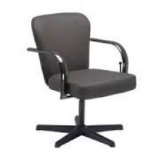 Chromium Lever Control Shampoo ChairsTop Grade Espresso Brown Thick Durable Arms Wide Thick Cushions