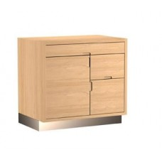 Etopa Experience Back Wrap Reception Desk Back Area or Side Piece 3 Foot Wide Maple With Stainless Steel