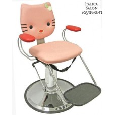 Pink Kitty 1 Red Nose Standard Color Hair Styling Chair For Kids