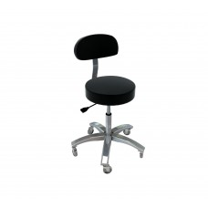 Pro Stool With Backrest Massage Table Stool- Choose Color 31002