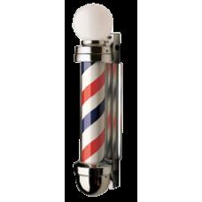 Model 333NR NON-REVOLVING Barber Pole 2 Light Globe Top Model