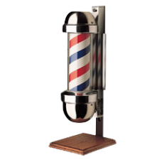 William Marvy 410 OS Model Marvy Revolving Barber Pole On Stand