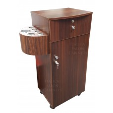 Italica 2529 Portable Styling Cabinet Walnut Color