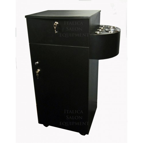 Italica 2529 Portable Styling Cabinet Black Large Storage Area and Locking