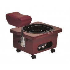 Pibbs DG105R Red Burgundy Mobile Fiberglass Pedi Cart Portable Footsie Bath Pedicure Unit