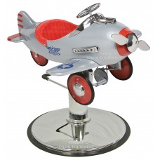 Silver Pursuit Silver Children's Hair Styling Airplane With Your Choice of Base