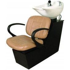 Massey 14BWS Shuttle Side or Backwash Sliding Chair Tilting Porcelain Shampoo Bowl From Collins