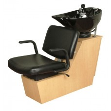 Monte 15BWS Shuttle Backwash Sliding Chair Tilting Porcelain Shampoo Bowl From Collins