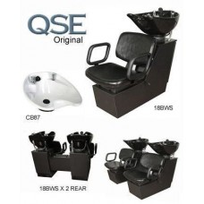 QSE 18BWS Shuttle Backwash Sliding Chair Tilting Porcelain Shampoo Bowl From Collins