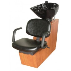 Jaylee 19BWS Shuttle Backwash Sliding Chair Tilting Porcelain Shampoo Bowl From Collins