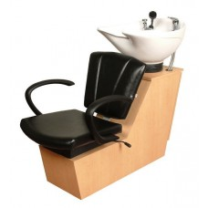 Sean Patrick 44BWS Shuttle Backwash Sliding Chair Tilting Porcelain Shampoo Bowl From Collins