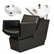 Cigno 69BWS Shuttle Backwash Sliding Chair Tilting Porcelain Shampoo Bowl Your Choice Colors From Collins