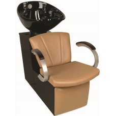 Vanelle 97BWS Shuttle Backwash Sliding Chair Tilting Porcelain Shampoo Bowl Your Choice Colors From Collins