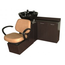 Massey 14SWS Shuttle Sidewash From Collins With Sliding Chair Tilting Shampoo Bowl Plus Storage Cabinets and Your Choice Colors