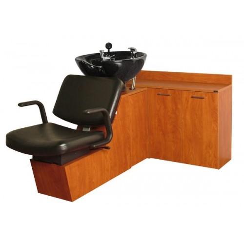 Collins 15SWS Monte Shuttle Sidewash Sliding Chair Tilting Shampoo Bowl Plus Storage Cabinets