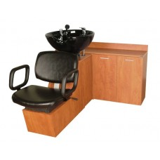 QSE 18SWS Shuttle Sidewash Sliding Chair Tilting Shampoo Bowl Plus Storage Cabinets From Collins